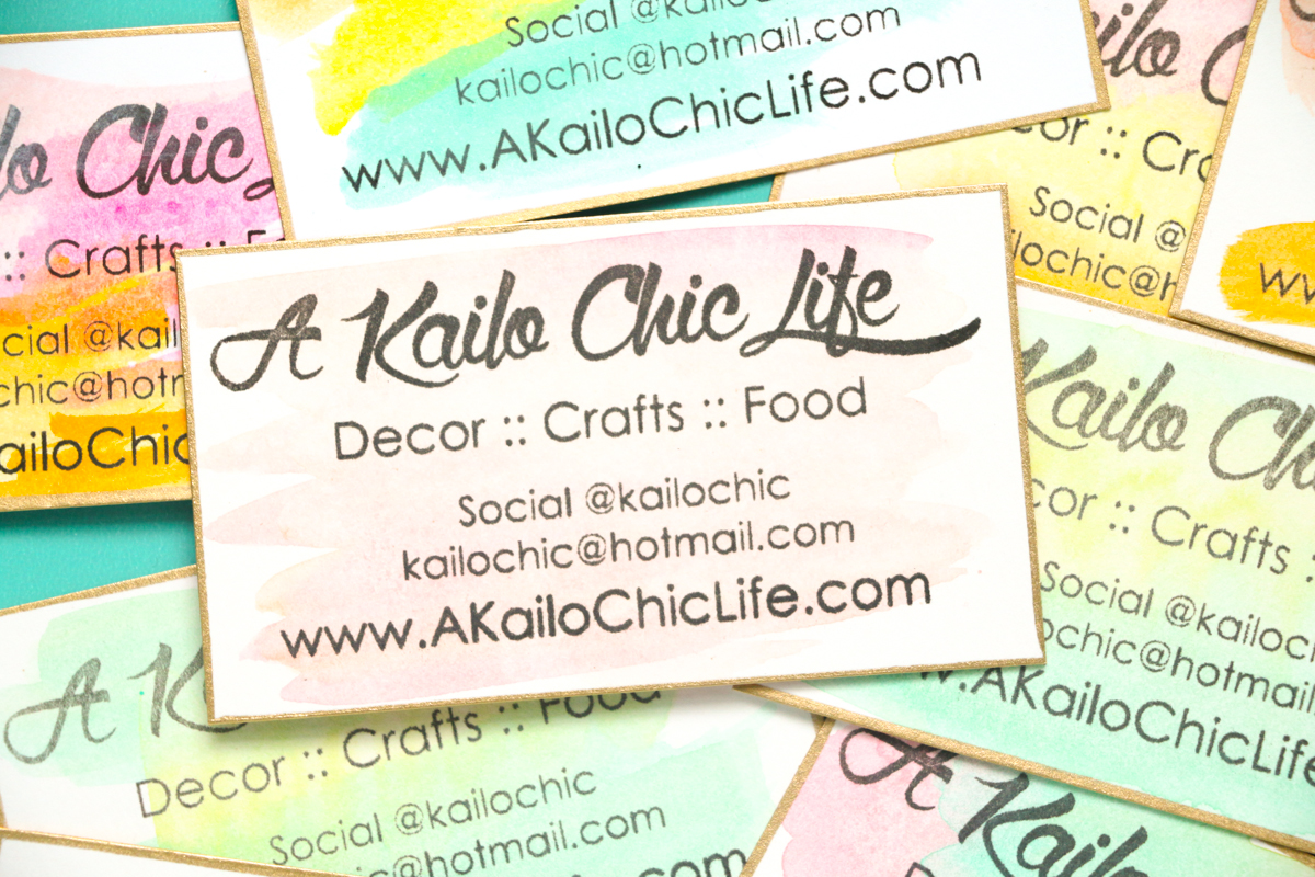 A Kailo Chic Life: DIY It - Watercolor Business Cards