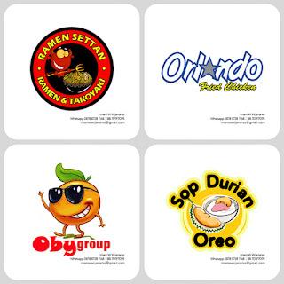 desain logo ramen, desain logo kuliner, desain logo fried chicken