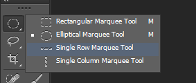 Move, Rectangular, Elliptical, Single Row, Column Marquee, Tools