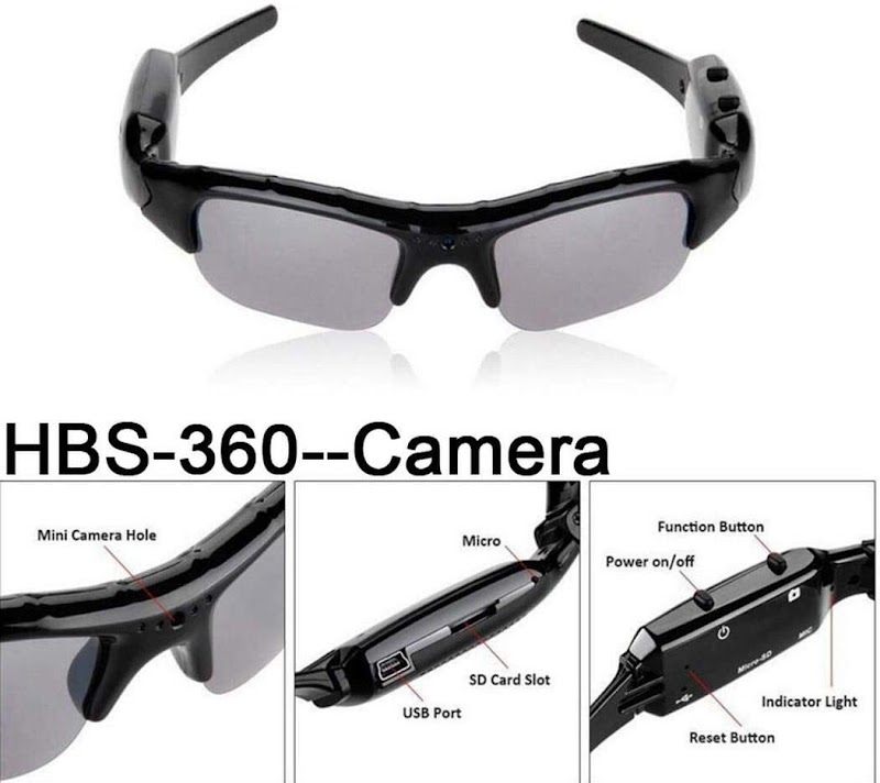 80%  off  HD Video Recorfing Sunglasses Voice Recording Eyewear Digital Glasses Sports & Action Video Cameras