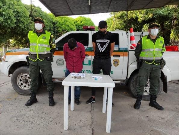 hoyennoticia.com, Se 'cayeron' con 136 gramos de marihuana en la vía San Roque -La Paz