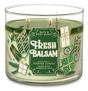 Bring the fragrance of the holidays indoors with a Bath & Body Works Fresh Balsam 3-Wick Scented Candle!