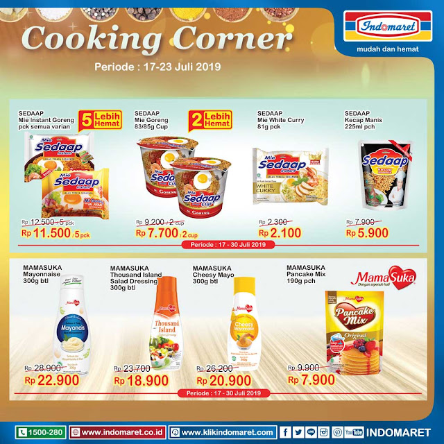 #Indomaret - #Promo Katalog Cooking Corner Periode 17 - 23 Juli 2019