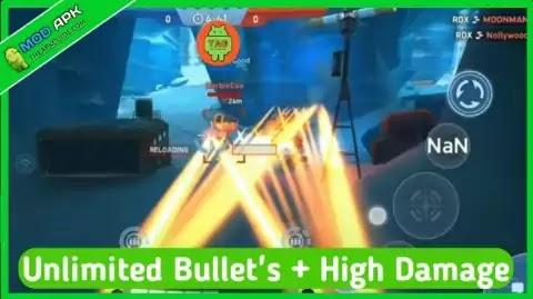 mech arena mod apk unlimited bullets & high damadge