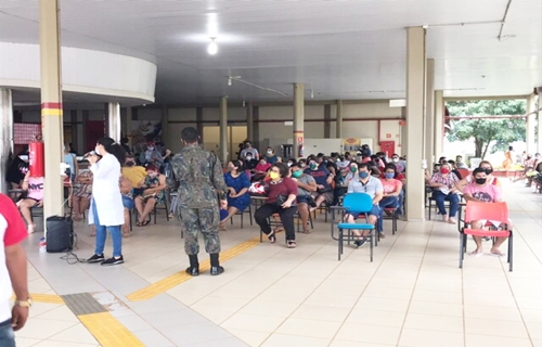 Forças de segurança e salvamento são vacinadas em Porto Velho neste sábado