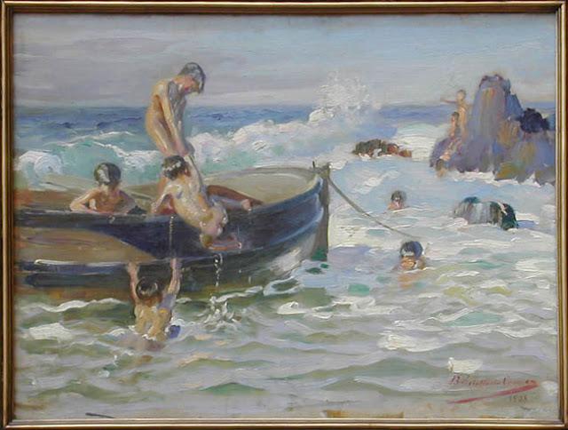 LA RISA DEL MAR Rebolledo, Benito (1880-1964) 1908