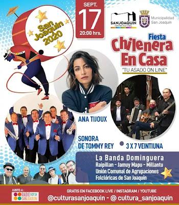 """San Joaquín realizará su """"Fiesta Chilenera 2020 en casa"""" en formato online"""