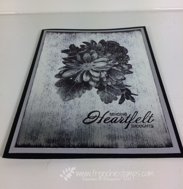 Black Ice Technique, Heartfelt Blooms, Stampin'Up!, Frenchie Stamps