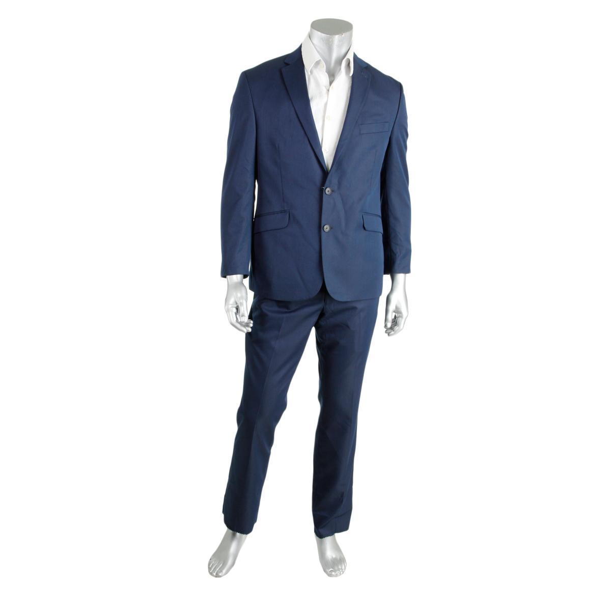 This Is For You!  Kenneth Cole Reaction 5780 Mens Blue Pinstripe 2PC ... 83a46e75e09b7