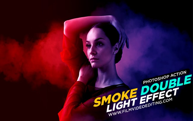 Smoke Double Light Photoshop Effect Action - Film Video Editing