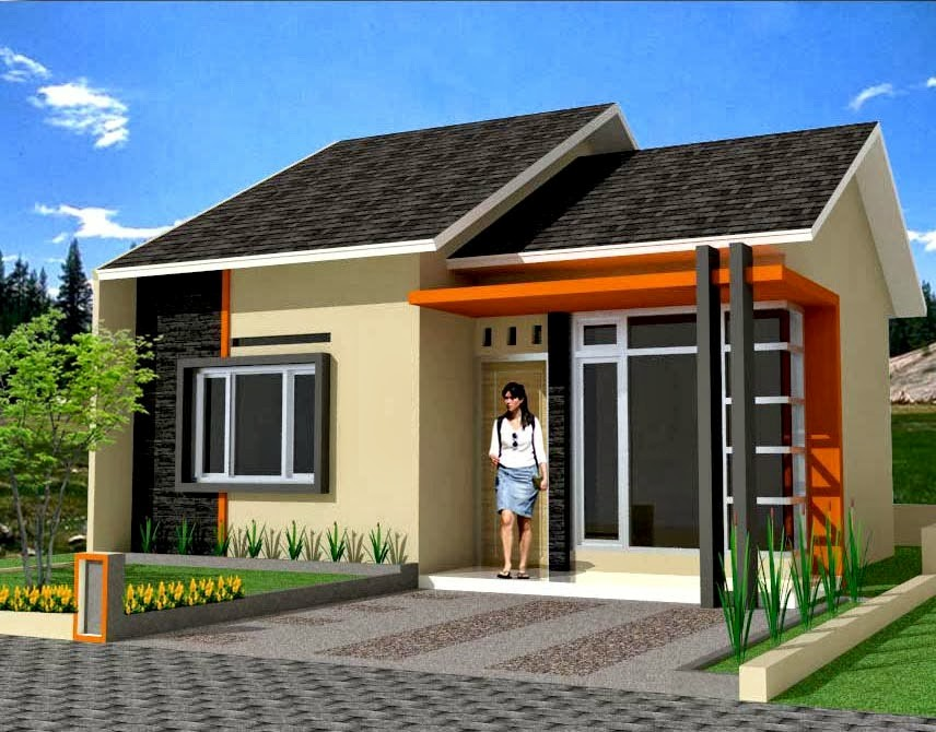 model rumah kecil sederhana 6