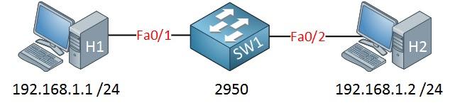 جهازي كمبيوتر سيسكو 2950 سويتش