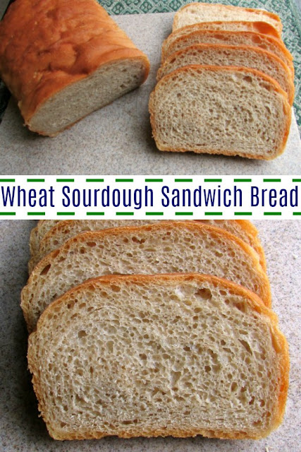 This soft whole wheat sourdough bread is perfect for toast or sandwiches.  It is easy to make, lightly flavored and delicious.