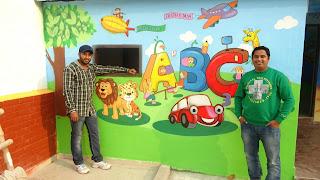 KIDS PLAY SCHOOL CLASSROOM WALL MURALS MAHIM  MUMBAI