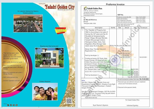 Brochure & Proforma invoice for Plot No.23