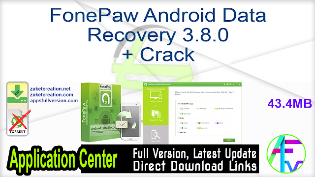FonePaw Android Data Recovery 3.8.0 + Crack