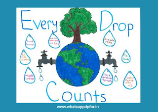 water conservation poster drawing