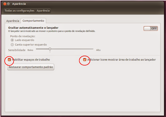 Compartamento do Ubuntu