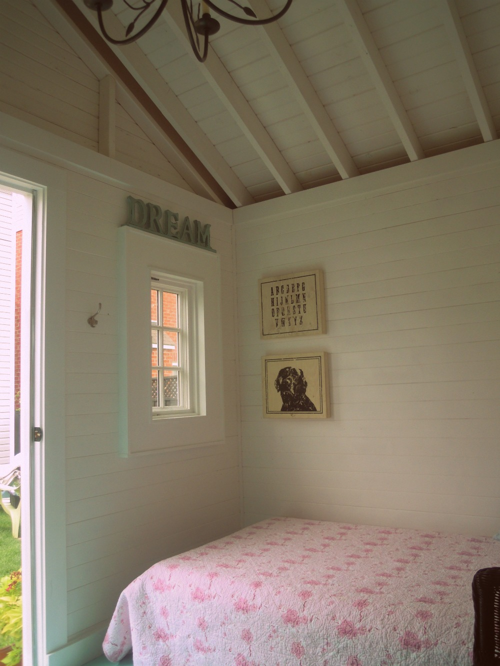 White wood my little bunkie guest house for Bunkie interior designs
