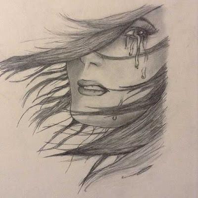 صور ابداع فن رسم وجة بنت حزينة
