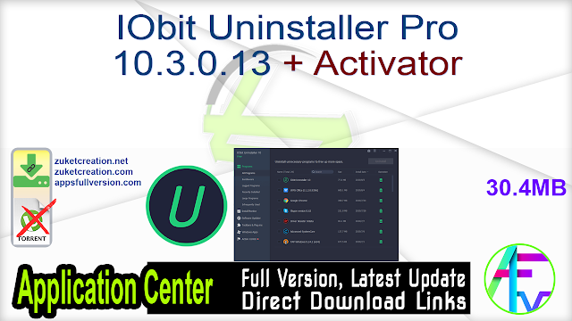 IObit Uninstaller Pro 10.3.0.13 + Activator