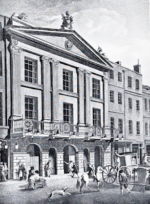 Adam's reconstruction of the Theatre Royal, Drury  Lane 1776 from The Architecture of Robert and James Adam by AT Bolton (1922)