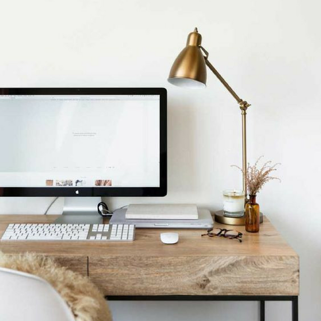 the round button blog, desk inspiration
