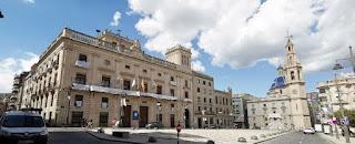 Plaza de España, Alcoy, provincia de Alicante.