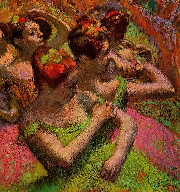 Эдгар Дега - Балерины на репетиции (1879)