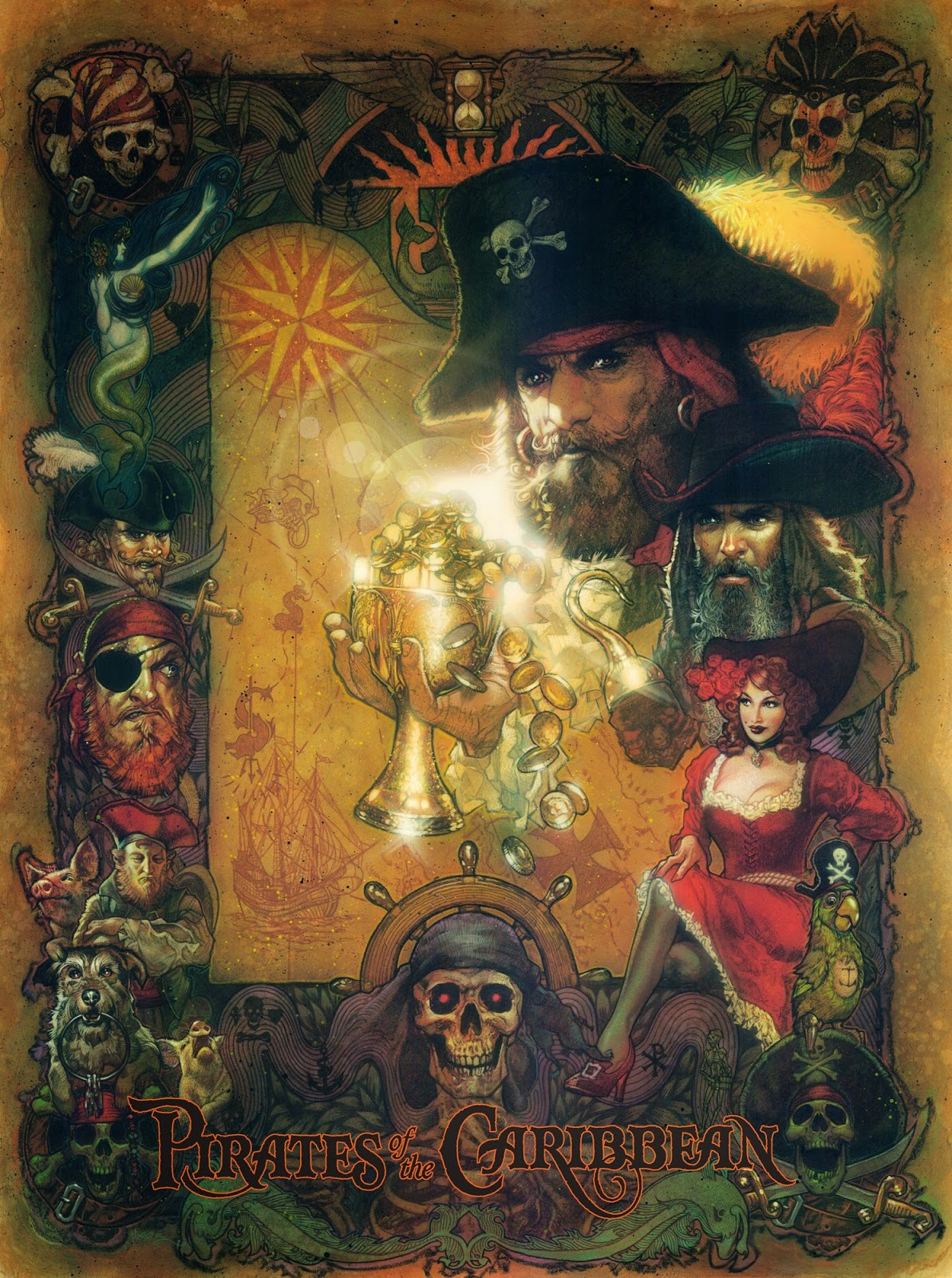 The Geeky Nerfherder: Cool Art: Disney Prints by Tony Harris