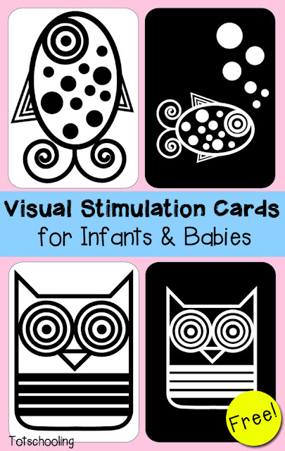 Visual Stimulation Cards for Infants & Babies