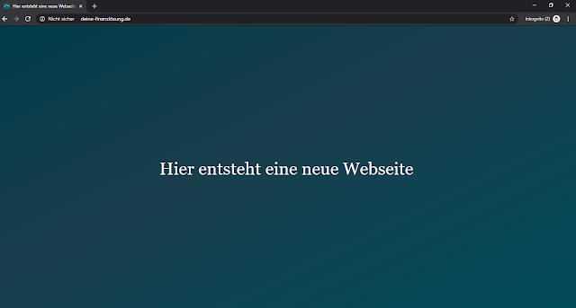 Screenshot: URL: deine-finanzlösung.de / DEZ 19