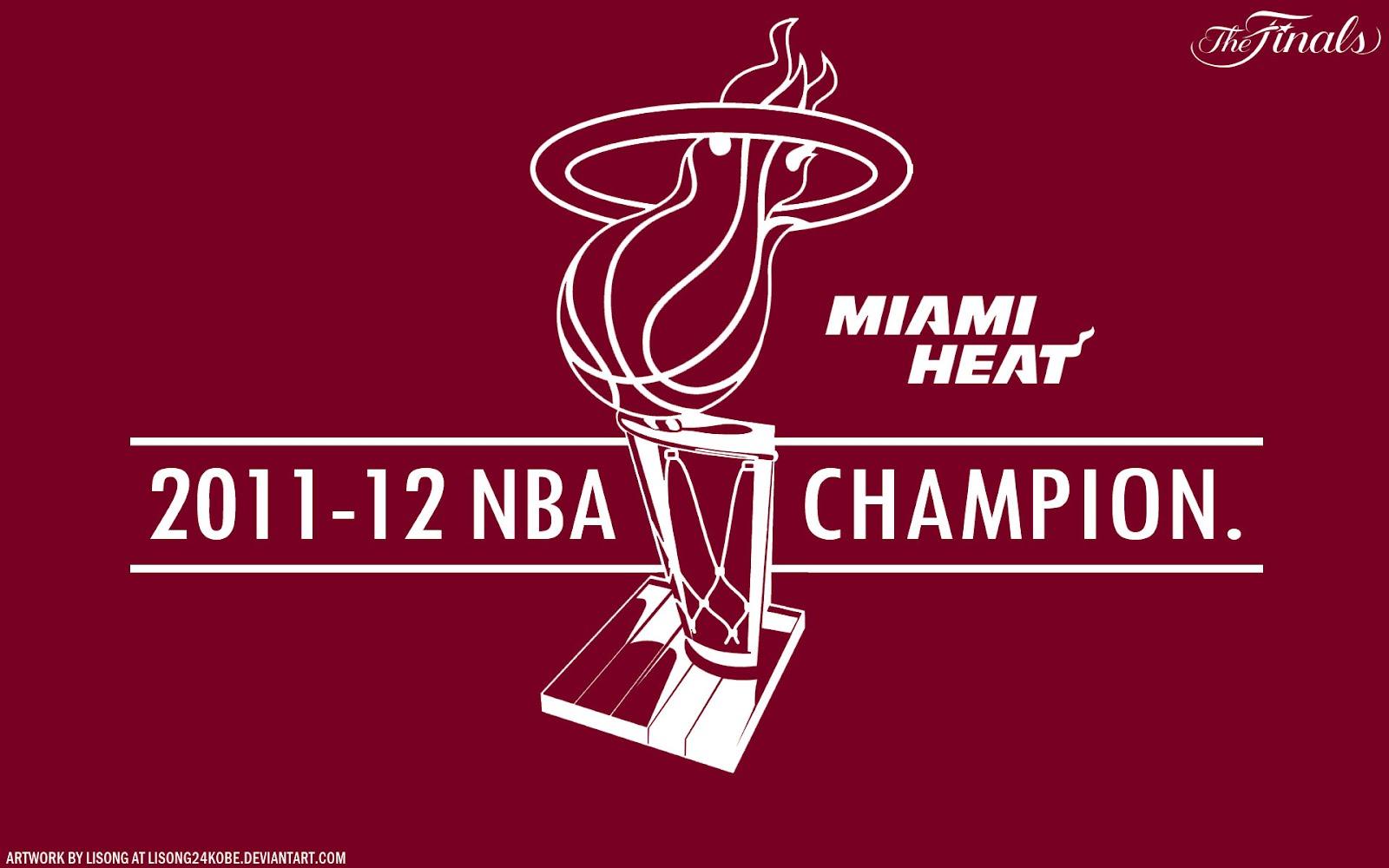 Miami Heat 2012 NBA Champions 1920x1200 Vector Wallpaper ...