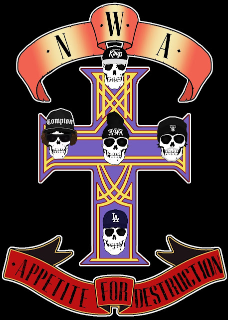 NWA Appetite For Destruction logo. PunkMetalRap.com