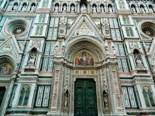 Detalhe da fachada da Catedral de Florença