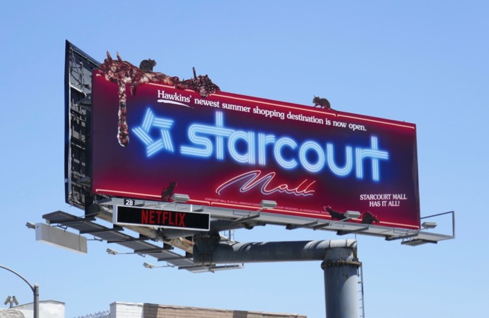 Starcourt Mall Stranger Things 3 billboard