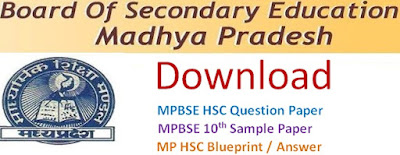 MPBSE 10th (HSC) Model Question Paper 2017 Blueprint