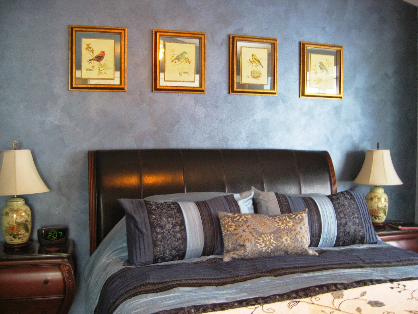Array Of Color Inc: Metallic Blue Accent Wall