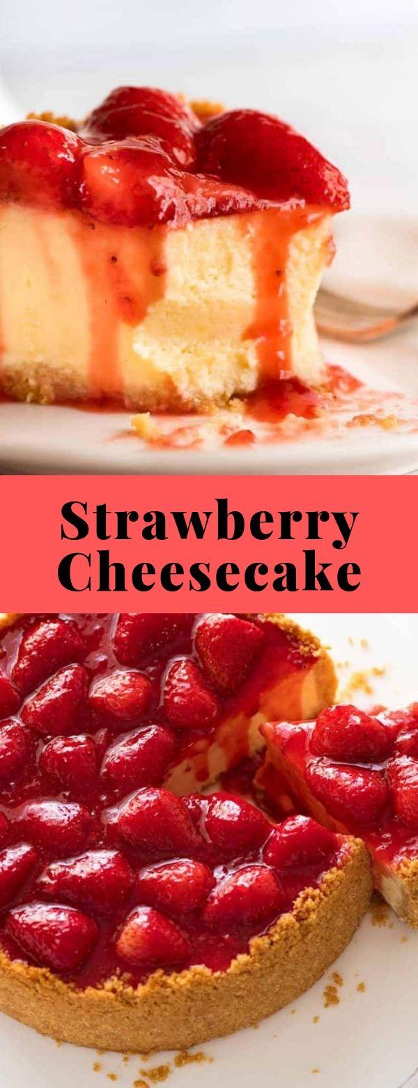 Strawberry Cheesecake #cakes #dessert