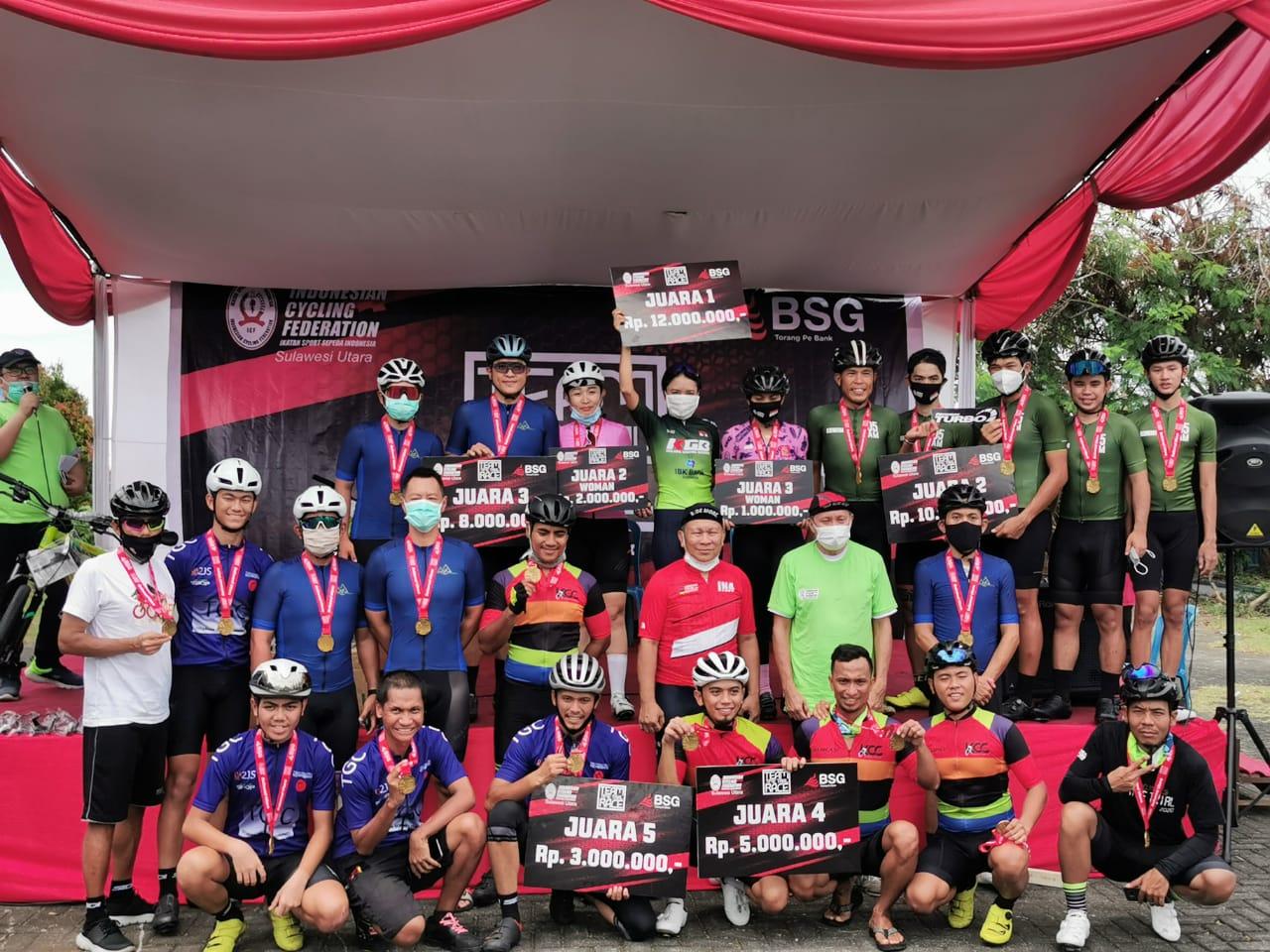 ISSI Sulut Gelar Kejuaraan Balap Sepeda Road Bike dan MTB Enduro