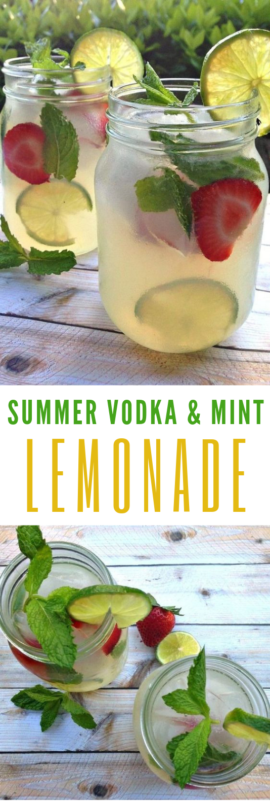 Refreshing Summer Drinks: Vodka Mint Lemonade Cocktail With Stoli #Cocktail #SummerDrinks