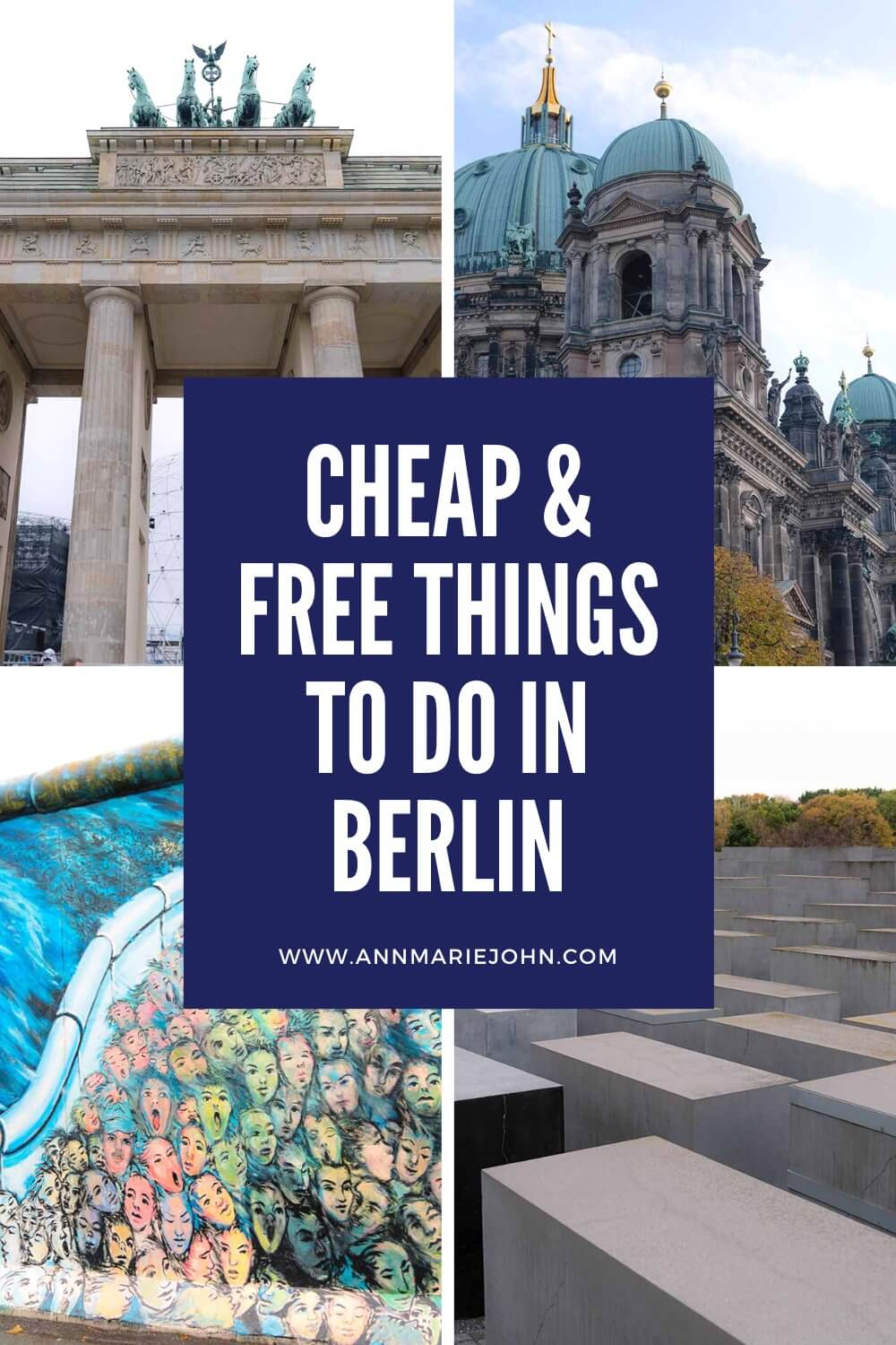 Cheap and free things to do in Berlin Pinterest Image