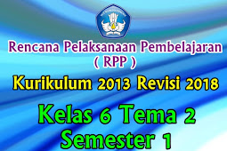 Perangkat RPP Kelas 6 Tema 2 Semester 1 K13 Revisi 2018