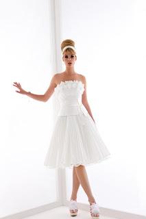 vestito da sposa corto, matrimonio abito in corto