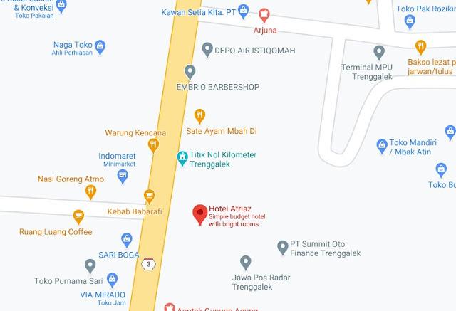 Map Letak Kamar Hotel Atriaz Trenggalek