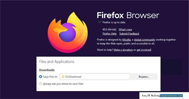 Cara Mengubah Folder Tempat Menyimpan File Download Di Mozilla Firefox