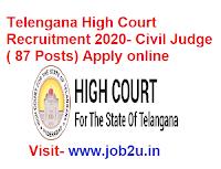 Telengana High Court Recruitment 2020, Civil Judge