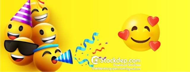 Cartoon Bright Emoticons Collection free stock