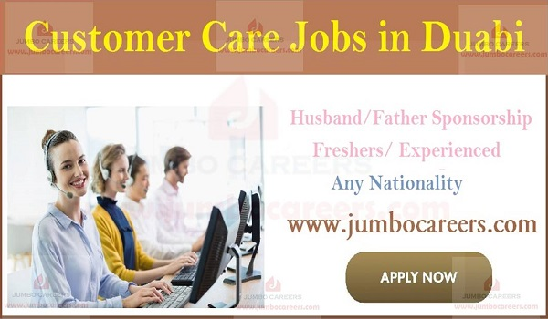 Latest jobs in Gulf countries, Urgent Customer care jobs in Dubai,
