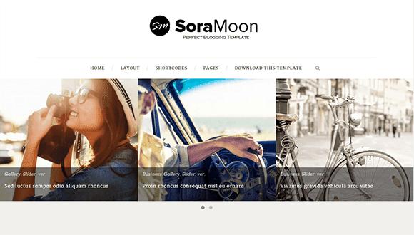 Sora Moon - Responsive Minimal Blogger Template